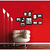 Amazon.co.jpMAFENT 思い出の引用の壁の装飾の10の写真フレームウォールステッカーリムーバブルとdiy