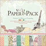 IDULL Scrapbook Paper 12x12 Cardstock (Color: Light Green Eiffel Tower, Tamaño: 12-x-12-Inch)