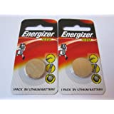 2 pcs 2025 CR2025 ECR2025 3V Lithium Energizer Coin / Button Cell Battery Batteries - BRAND NEW in Blister Packs
