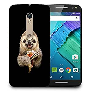 Snoogg Animal Drinking Coke Designer Protective Back Case Cover For MOTO X STYLE