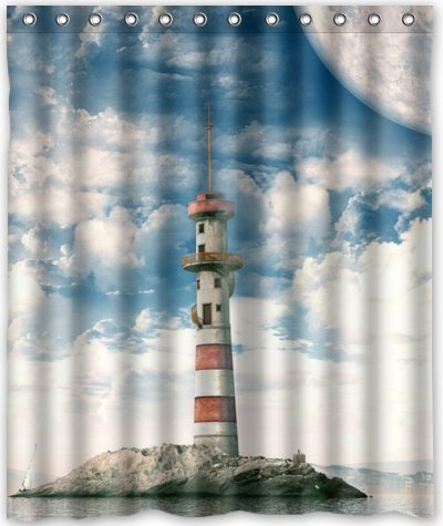 Outlet Seller Custom Standing Of The Lighthouse Waterproof Bathroom Fabric Shower Curtain 60