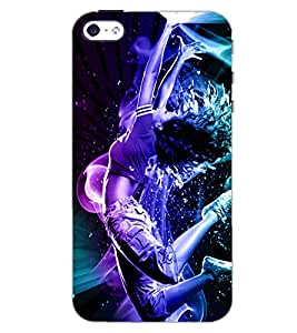 PrintDhaba DANCING GIRL D-6660 Back Case Cover for APPLE IPHONE 5 (Multi-Coloured)