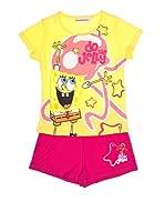 Licencias Pijama Niña Bob Esponja Helado (Amarillo / Rosa)
