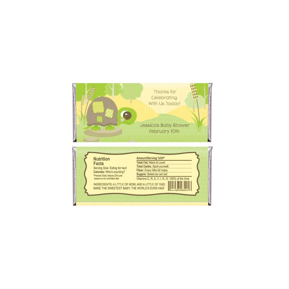 Baby Turtle   Personalized Baby Shower Candy Bar Wrapper Favors