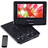 "DBPOWER 9.5"" Portable DVD Player with Swivel Screen, Supports SD Card and USB, Direct Play in Formats MP4/AVI/RMVB/MP3/JPEG (Black)"