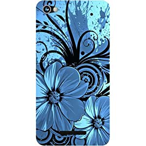 Casotec Cute Floral Blue Design Hard Back Case Cover for Micromax Canvas Hue 2 A316