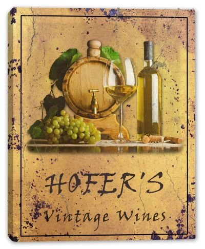hofers-family-name-vintage-wines-stretched-canvas-print-16-x-20