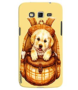 Omnam Beautiful Dog In Bag Printed Designer Back Cover Case For Samsung Galaxy Grand 2