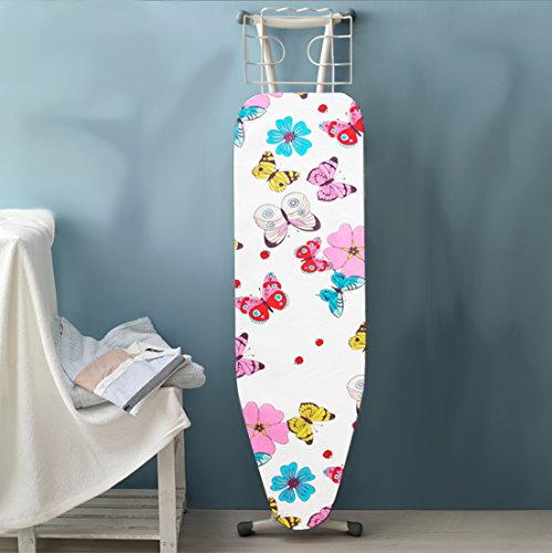 HoDecor Ironing Board Cover and Extra Thick Padding - Butterfly Fits up 18