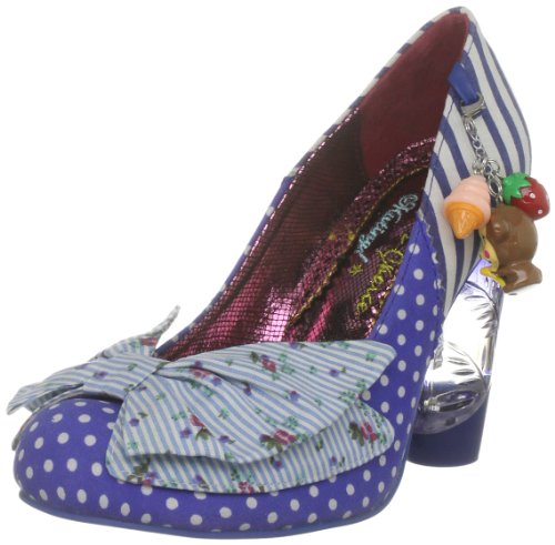 Irregular Choice Women's Trinklettina Blue Multicolor Mary Janes 3801-1K 6 UK, 39 EU