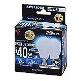 Amazon.co.jpアイリスオーヤマ LED電球 E17口金 40W形相当 昼白色 広配光タイプ 2個セット 密閉形器具対応 LDA4N-G-E17-4T22P