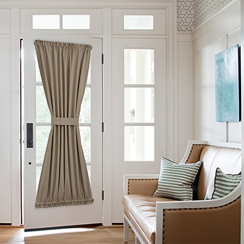 Nicetown Energy Efficient Blackout Patio Door Curtain Panel - One Piece W54 x L72-Inch - Taupe (Blind For Glass Door compare prices)