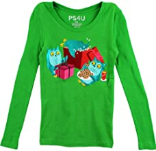 PS4U Girls Green Owl T-Shirt PS4UT