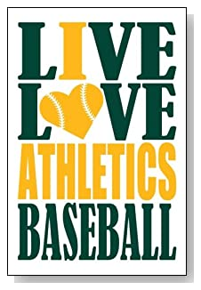 Live Love I Heart Athletics Baseball lined journal - any occasion gift idea for Oakland Athletics fans from WriteDrawDesign.com