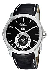 Ebel Men's 9301F61/5335P06GS Classic Hexagon Black Chronograph Dial Watch from Ebel