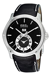 Ebel Men's 9301F61/5335P06GS Classic Hexagon Black Chronograph Dial Watch