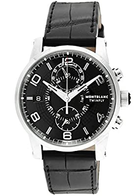 [Mont Blanc] MONTBLANC watch TIME WALKER black dial automatic winding alligator leather 105077 Men's parallel import goods]