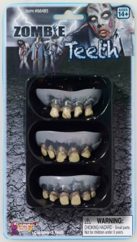 3 Pack Zombie Teeth Adult - One-Size