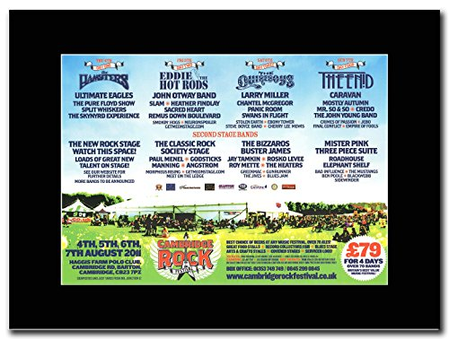 Cambridge Rock-2011, i criceti, Eddie & Hot Rods, la quirboys, la Enid. Magazine Promo su un nero Mount
