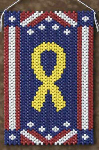 Yellow Peace Ribbon Beaded Banner Kit - The Beadery - 5599 - Pony Beads