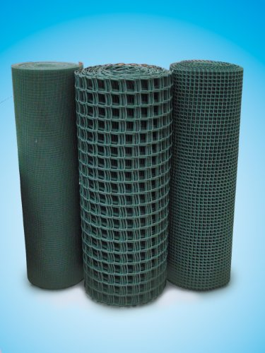 1m x 25m Plastic Mesh Garden Fencing Green (45mm x 45mm square hole). Mesh Fence Netting