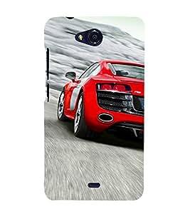 Extreme Car 3D Hard Polycarbonate Designer Back Case Cover for Micromax Bolt Q335