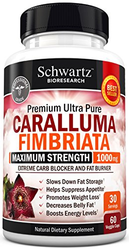 Appetite Suppressant Pure Caralluma Fimbriata Extract 1000mg All Natural Weight Loss Pills to get Slim Fast - Extreme Carb Blocker and Fat Burner to Lose Weight Easily (60 capsules) Made in USA (Caralluma Extract 1000 compare prices)