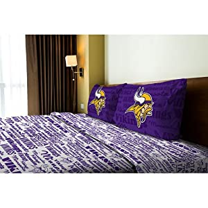 NFL Minnesota Vikings Sheet Set Football Anthem Bedding by NFL
