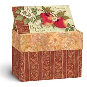 Lang Recipe Card Box with Recipe Cards, Beautiful Blooms