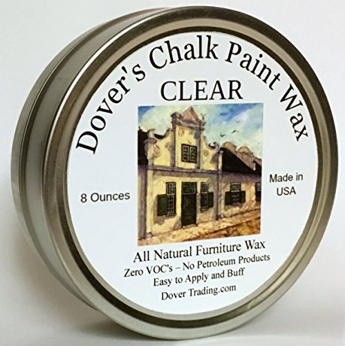 Dover's Clear Chalk Paint Wax Is an All Natural Soft Paste Wax for Finishing and Sealing Painted Furniture. 8 Ozs. 2 Colors. Easy to Apply. Also Available in Dark. (Kitchen Cabinet Paint Cream compare prices)