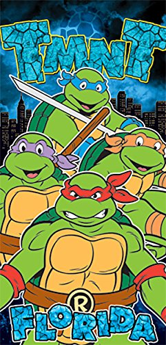 The Teenage Mutant Ninja Turtles Beach Towel Green Black
