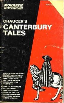 canterbury tales notes