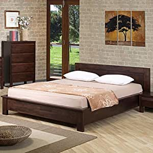 Alsa queen platform bed this platform bed frame is perfect for a bedroom set in - Low sitting bed frame ...