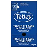 Tetley Tagged Tea Bags in Envelopes 250 Teabags 500g
