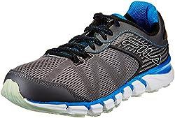 Fila Mens Ravenue Energized Pewter, Black and Prince Blue Running Shoes - 6 UK/India (40 EU)