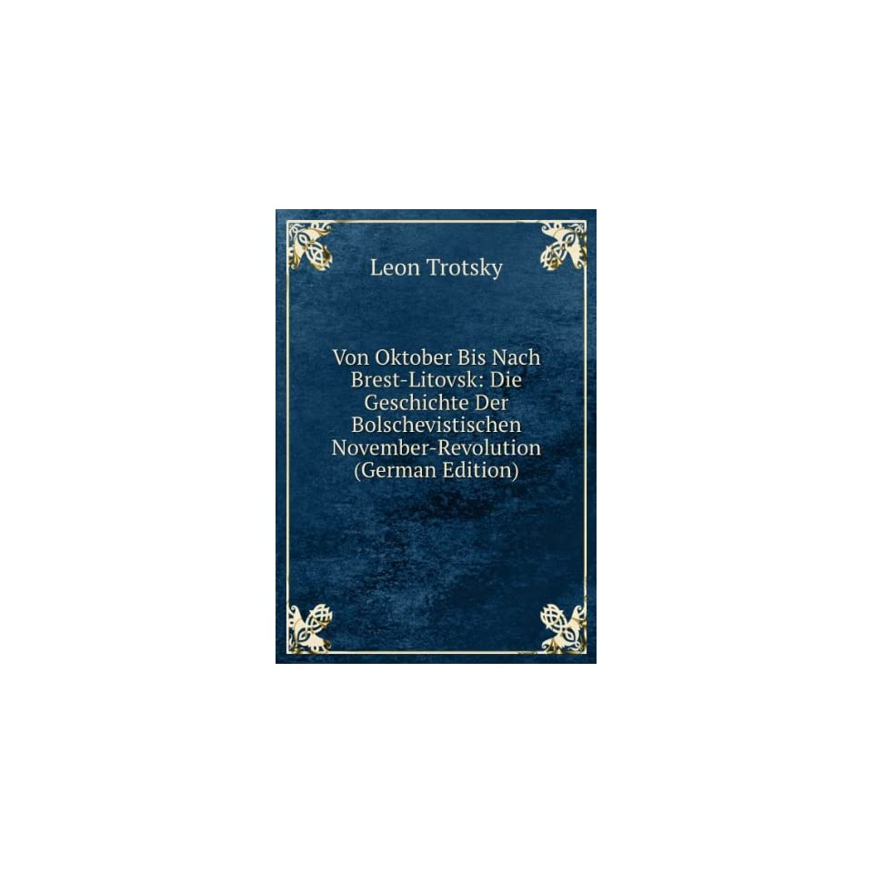 November Revolution (German Edition) Leon Trotsky Books