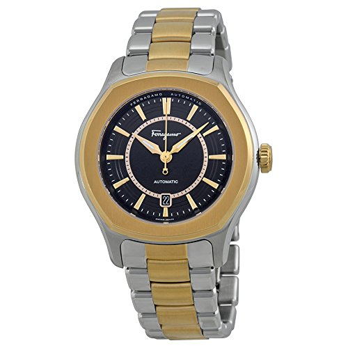Salvatore Ferragamo Men's FQ1050013 Lungarno Stainless Steel  Gold Ion-Plated Case and Bracelet Automatic Date Watch image