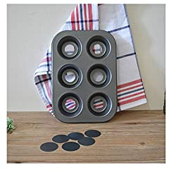Bakeware Non Stick Muffin Pan Tray 6 Cup Muffin Pan With Removable Bases