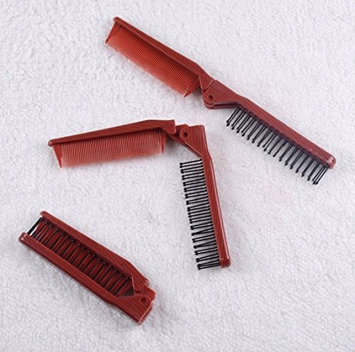 Essential travel folding hair brush and comb together hairbrush cepillo pelo hair comb M795