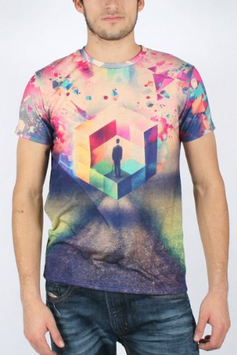 210b1097 Imaginary Foundation - Mens Squared Sublimation T-Shirt, Size: Large,  Color: Full Colour