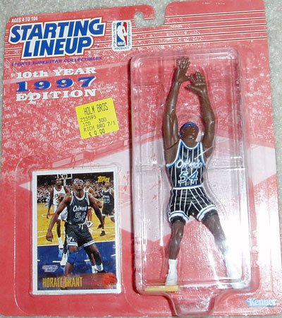 Starting Lineup Horace Grant 1997 Collectible Figure & Card