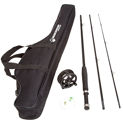 Wakeman Charter Series Fly Fishing Combo with Carry Bag - Black (Fly Fishing Pole compare prices)
