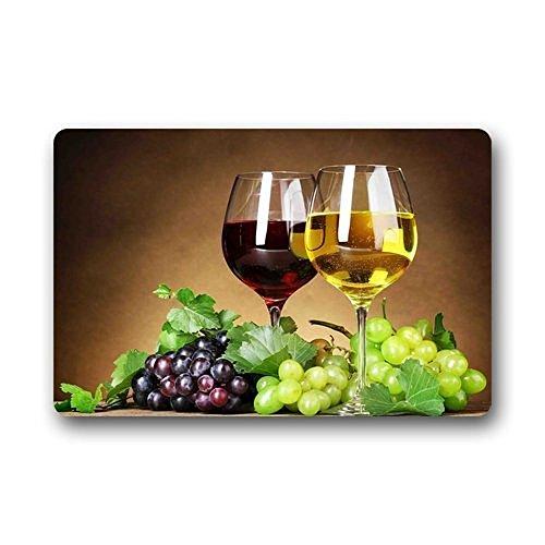 Hi,Doormat Grape Wine Doormat Outdoors/Indoor Machine Washable Home Floor Mats Rugs 23.6 x 15.7 Inches (Grapes Rug compare prices)