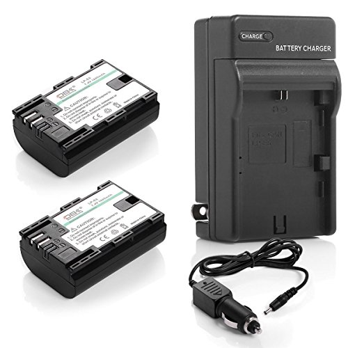 2x Battery For Canon LP-E6 LPE6 EOS 7D 70D 6D 60D 5D Mark II III Camera+ Charger (70d Mark Ii compare prices)
