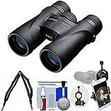 Nikon Monarch 5 10x42 ED ATB Waterproof / Fogproof Binoculars with Case + Harness + Smartphone Adapter + Cleaning Kit
