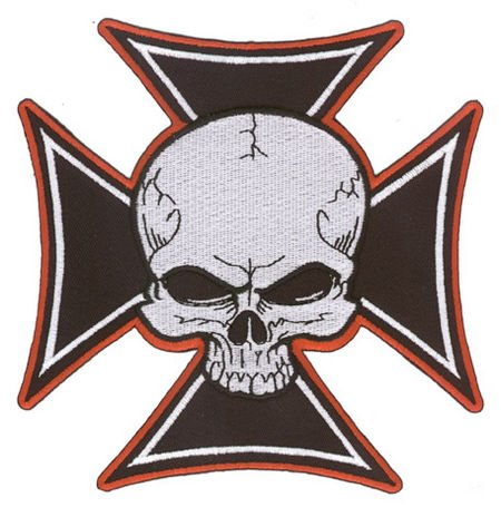 Aftermath - Iron Cross Skull - Embroidered Patch
