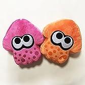 スプラトゥーン イカ クッション 2色セット(15バリエーション) (ピンク×オレンジ)