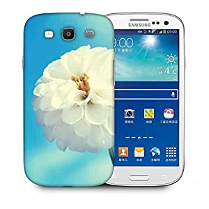 Snoogg Flower White Designer Protective Back Case Cover For Samsung Galaxy S3