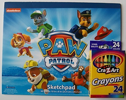 Paw Patrol Sketch Pad and Crayon Set