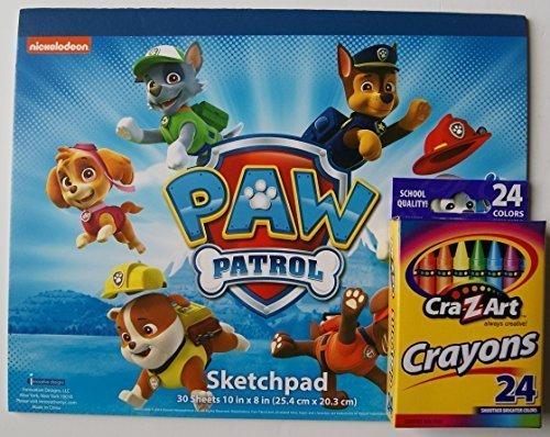Paw Patrol Sketch Pad and Crayon Set - 1